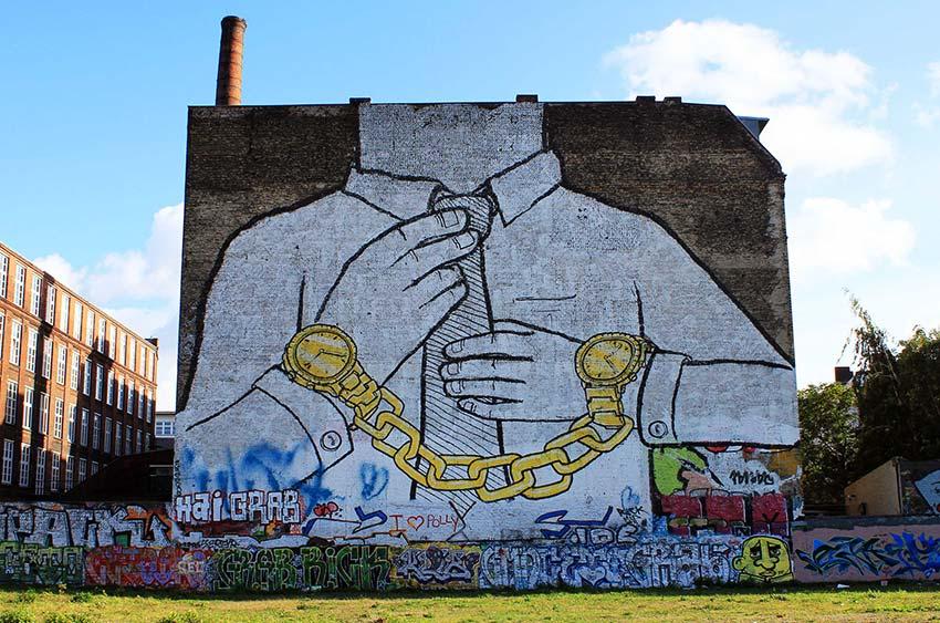 Blu, street art a Berlino