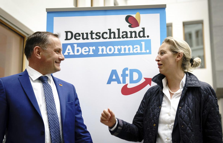 Tino Chrupalla e Alice Weidel dell'AfD
