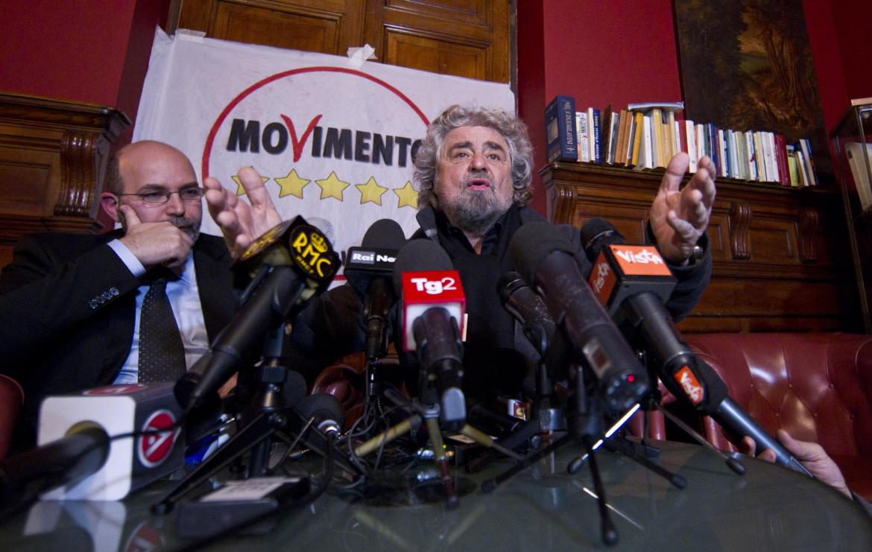 Vito Crimi con Beppe Grillo