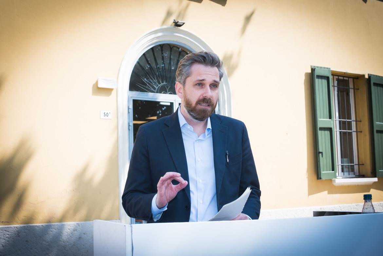 Il candidato Matteo Lepore