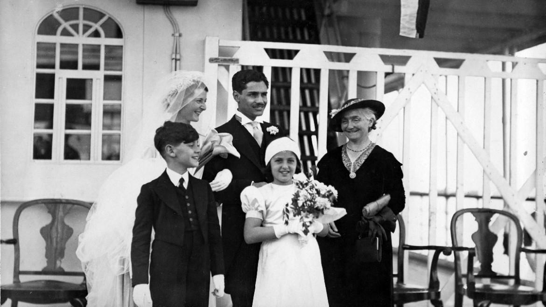Una delle foto esposte al Meis, grazie alla call to action «Un amore da condividere», che ritrae il matrimonio tra Livio Steindle e Fanny Dessau