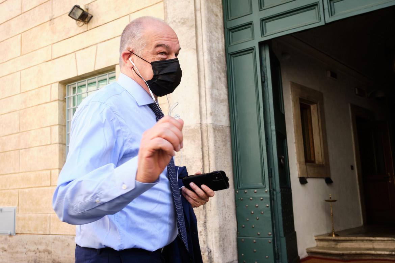 Il candidato del centrodestra a Roma Enrico Michetti