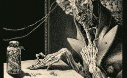 Alberto Martini nero e flessuoso con Poe