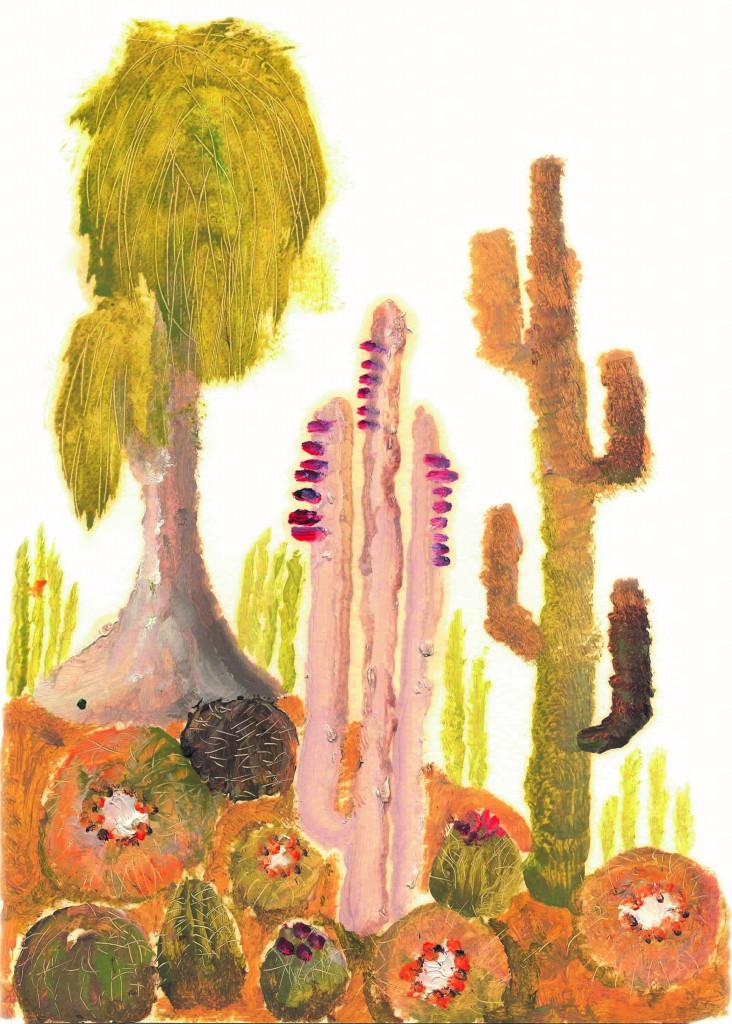 Uno degli acquarelli «spinosi» di Agostino Muratori