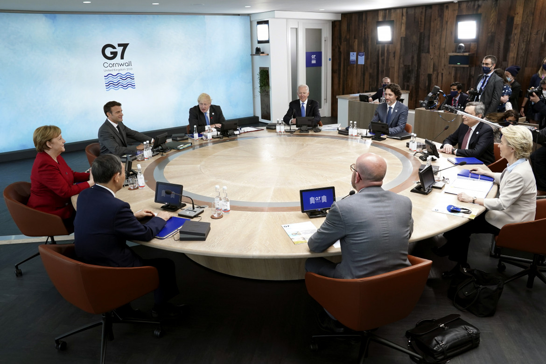 I leader del G7 riuniti a tavola