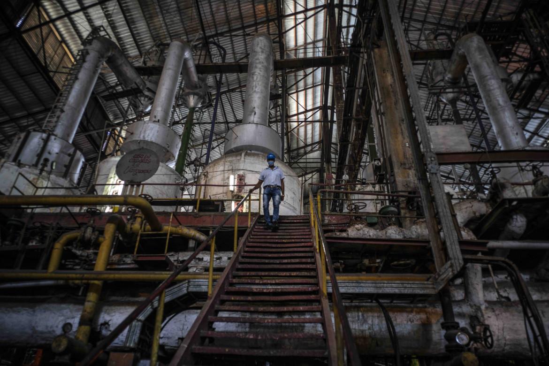 Madruga, Cuba, raffineria di zucchero bloccata dalle sanzioni Usa
