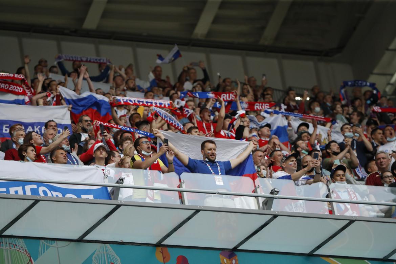 Lo stadio di San Pietroburgo in occasione di Russia-Finlandia