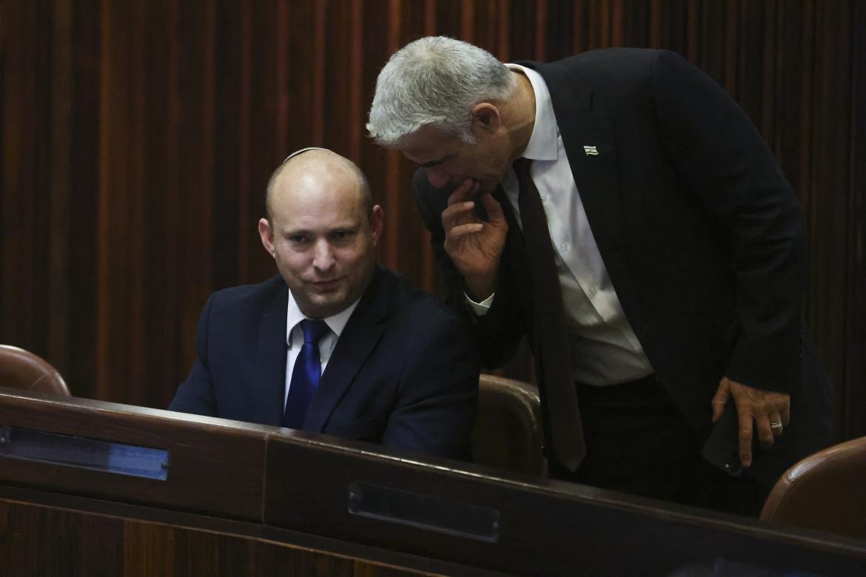 Naftali Bennett e Yair Lapid alla Knesset