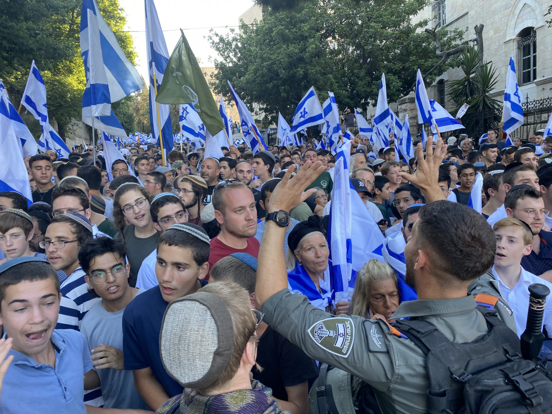 Gerusalemme. La marcia delle bandiere