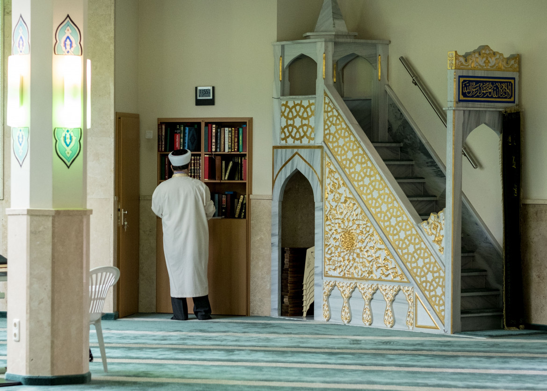 Hannover, l'interno della moschea Aya Sofya