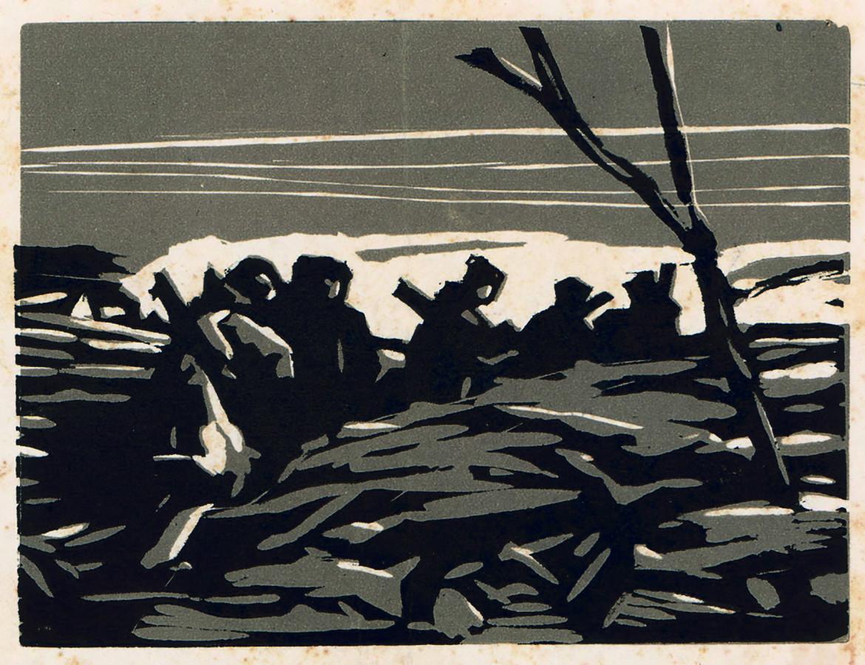 Un'opera dell'artista e partigiano ebreo Alexander Bogen