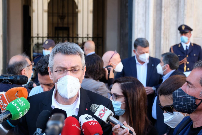 Il segretario generale della Cgil Maurizio Landini