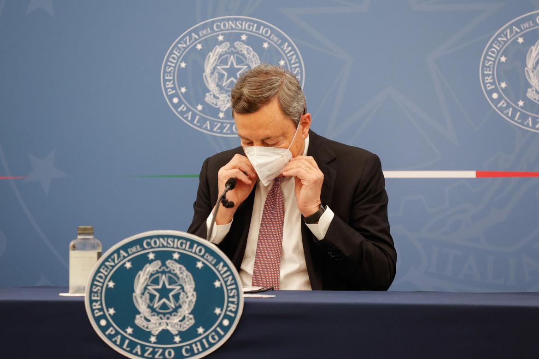 La conferenza stampa di Mario Draghi