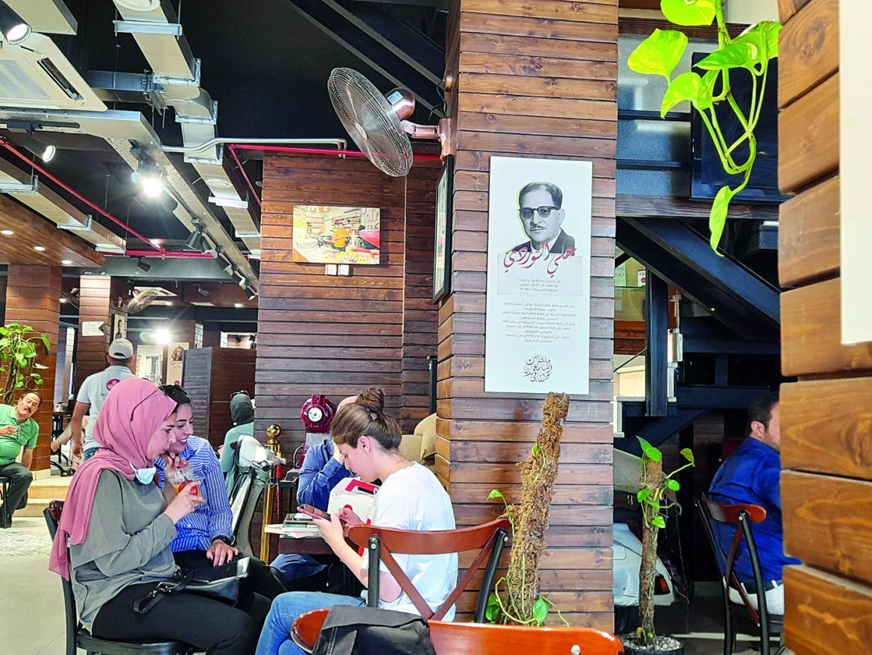 In un caffè della capitale irachena