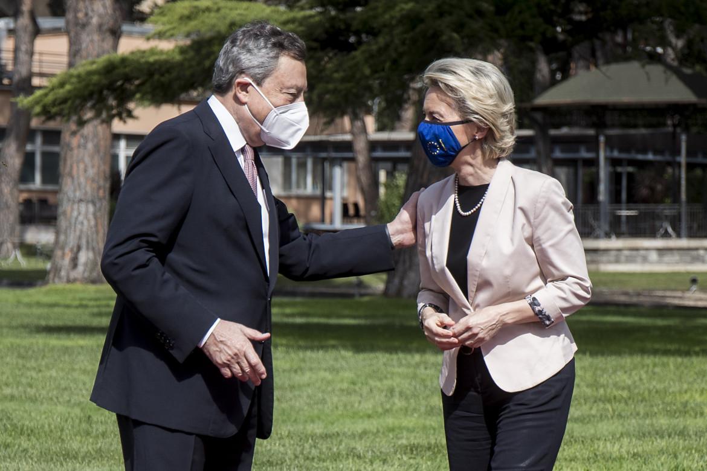 Mario Draghi e Ursula von der Leyen