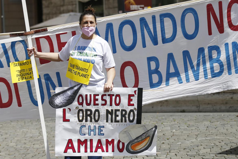 Recente protesta a Montecitorio