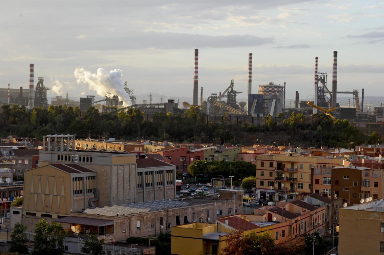 Un'immagine dell'acciaieria di Taranto