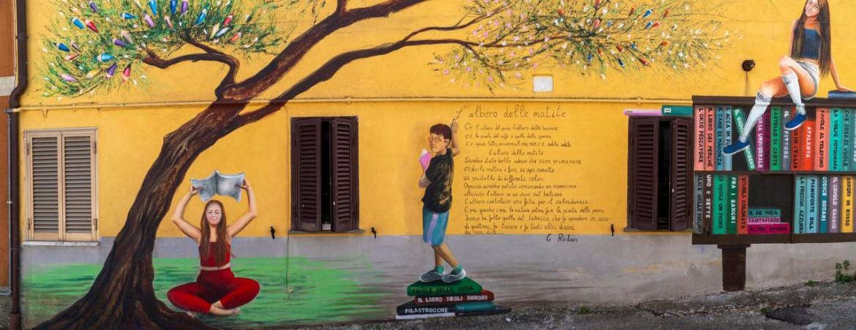 Un murales a Sant'Angelo di Roccalvecce