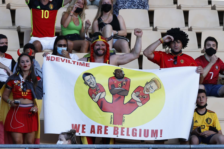 Sugli spalti tifosi del Belgio