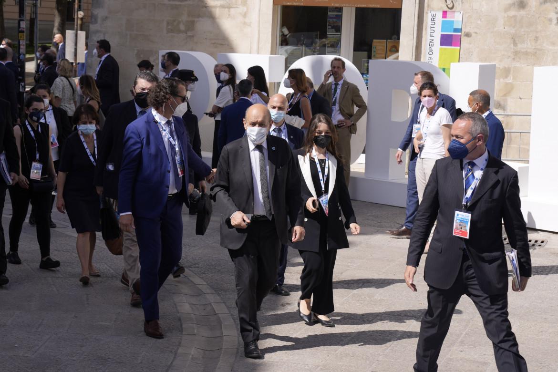 Matera, l'arrivo dei ministri degli esteri