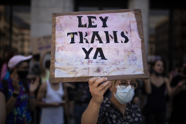 Manifestazione in sostegno della legge a Madrid