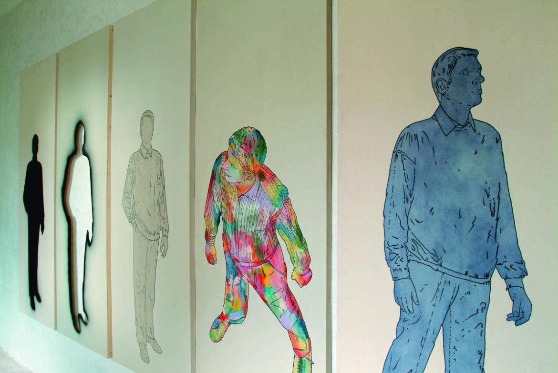 Un'opera di Renato Mambor,  particolare