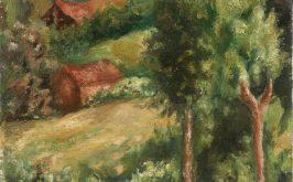 Giorgio Morandi Paesaggio 1927 collezione privata
