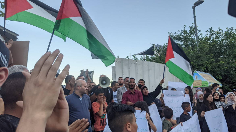 Raduno palestinese ieri a Silwan