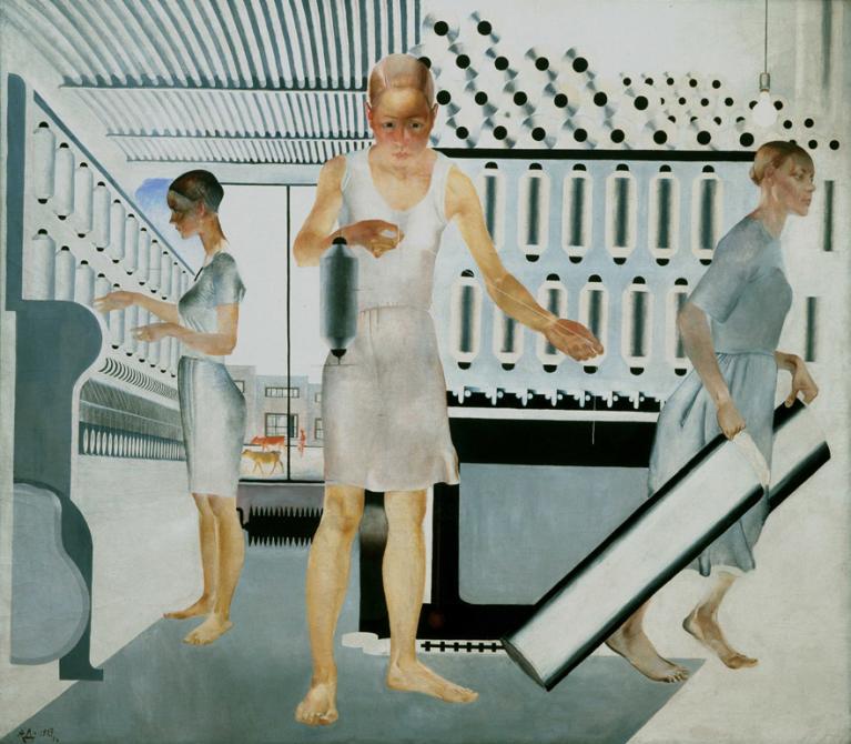 Aleksandr Dejneka, «Lavoratrici tessili», 1927