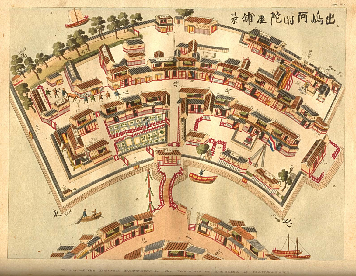 Plan of the Dutch Factory in the Island of Desima at Nagasaki