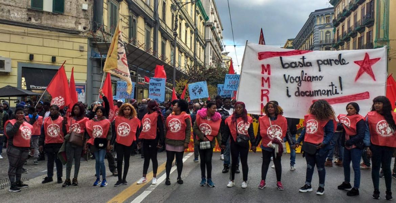Movimento Migranti e rifugiati in corteo, Napoli