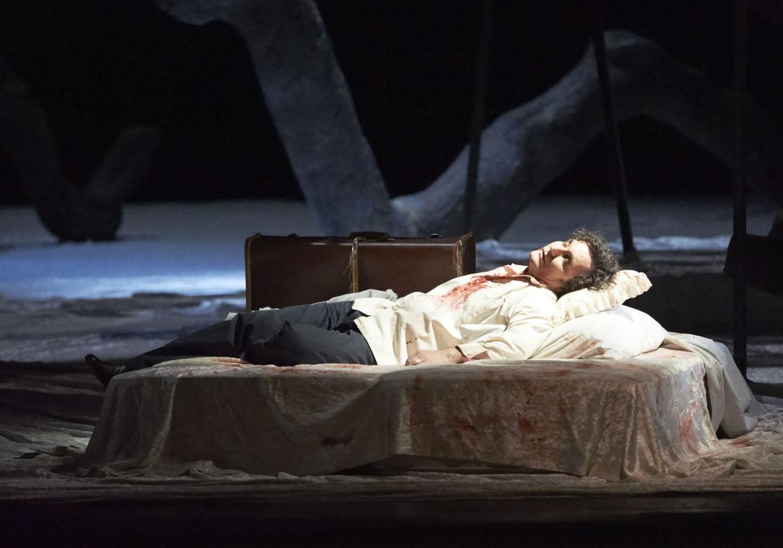 Ludovic Tézier  nel «Werther»  di Jules Massenet, regia di Andrei Serban, Vienna, Staatsoper, 2017