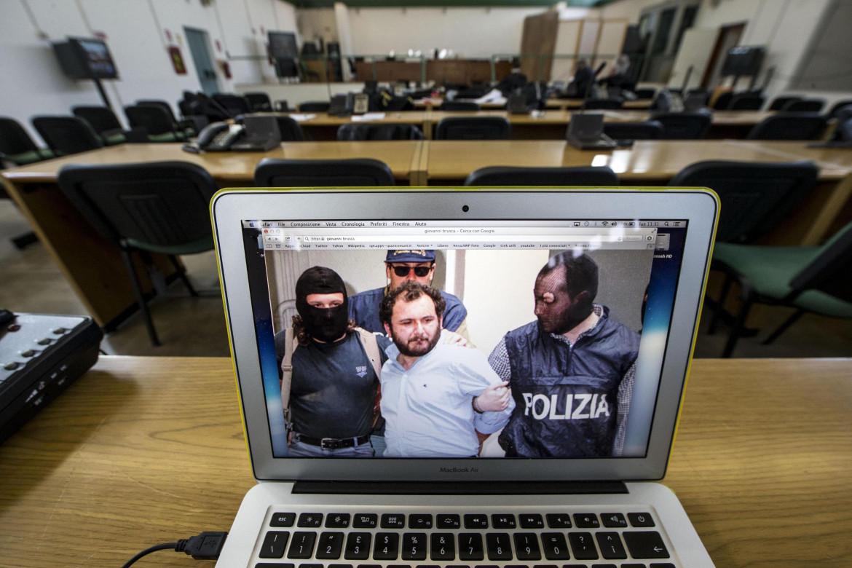 Giovanni Brusca mentre depone al processo bis sulla strage di Capaci