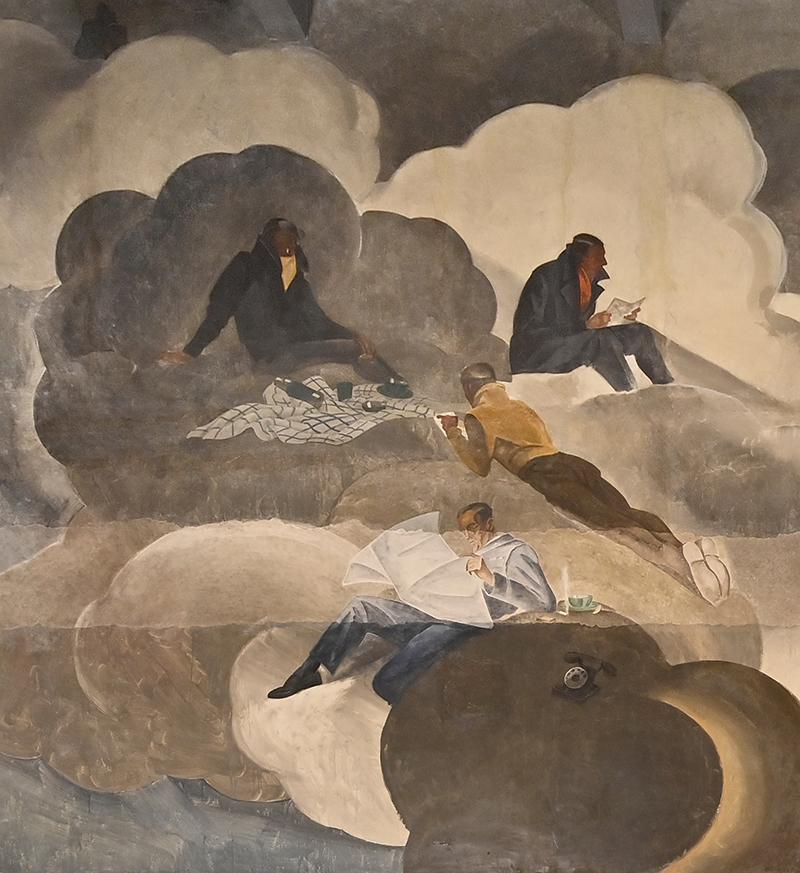 Marcello Dudovich, pittura murale a tempera, 1931-'33, Ministero Aeronautica Italiana