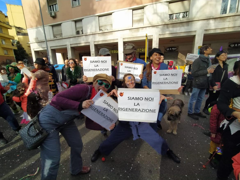 Manifestazione del centro sociale Scup