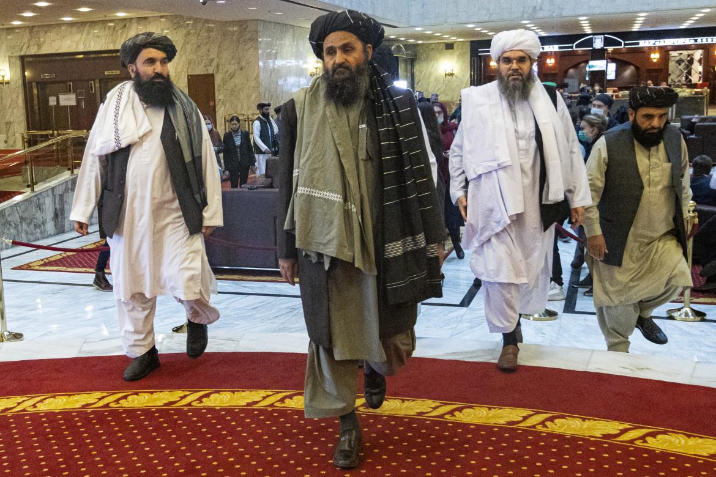 Il leader talebano Mullah Abdul Ghani Baradar a Mosca per la conferenza di pace dello scorso 8 luglio