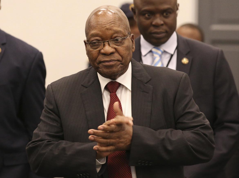L'ex presidente sudafricano Jacob Zuma