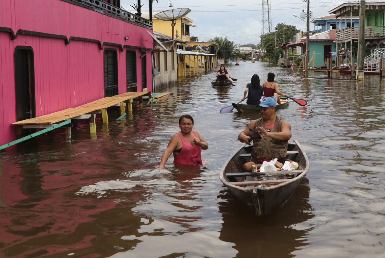 Un'alluvione ad Anam, Amazzonia