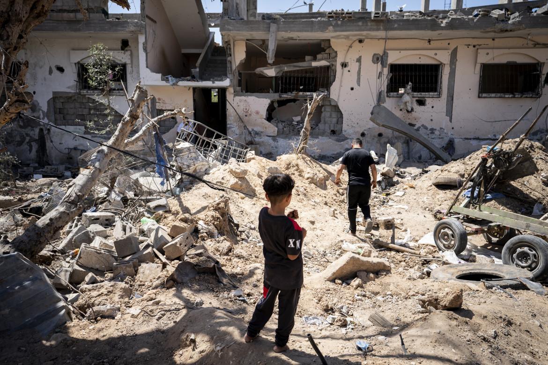Una casa di Gaza distrutta durante l'offensiva israeliana del maggio scorso