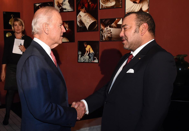 Biden con il re del Marocco Mohammed VI