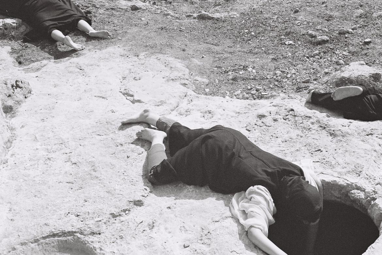 Un'immagine da «Our songs were ready for all wars to come» di Noor Abed