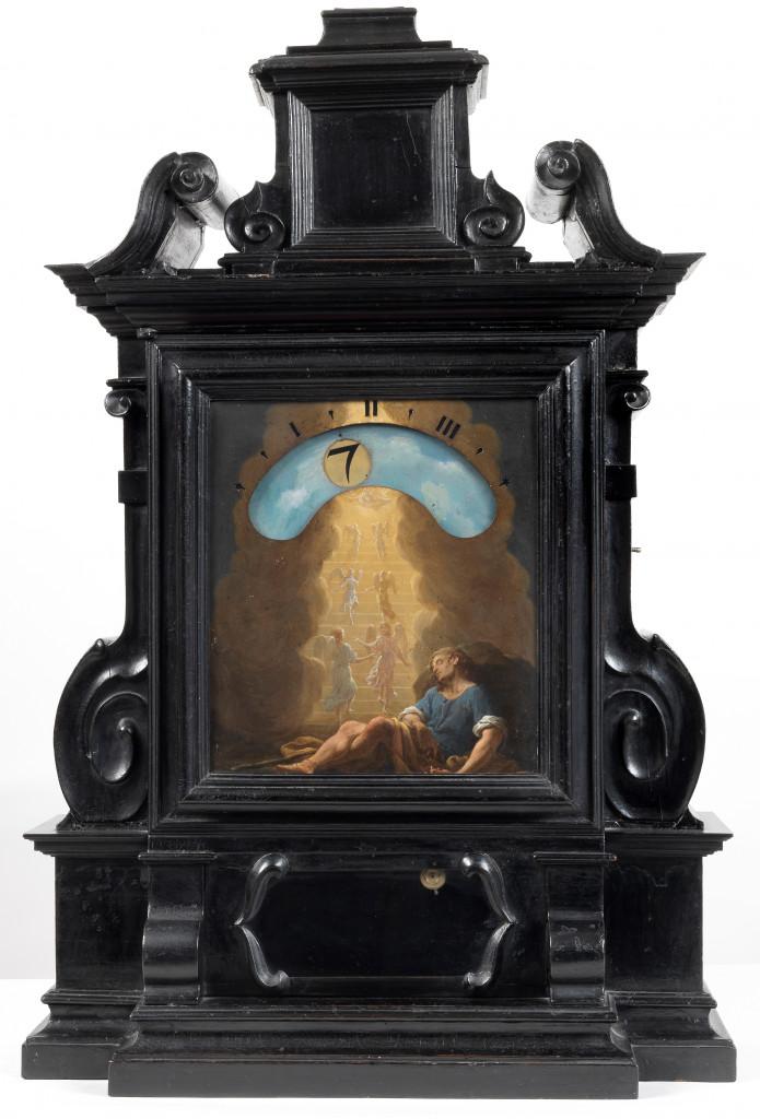 Giuseppe Campani, Orologio notturno datato 1687, decorato da un Sogno di Giuseppe di Francesco Trevisani, collezione privata