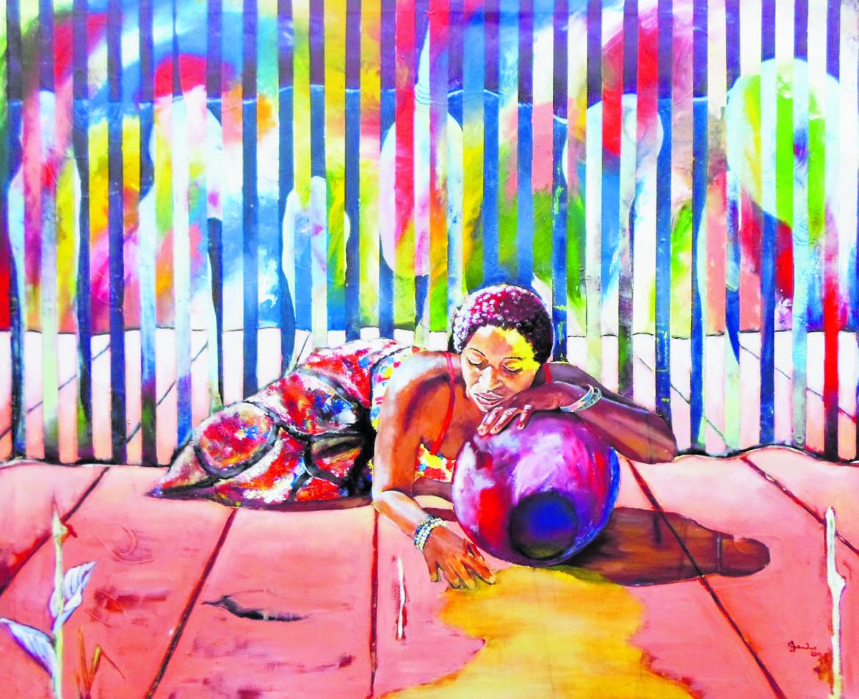 Un'opera dell'artista Stary Mwaba