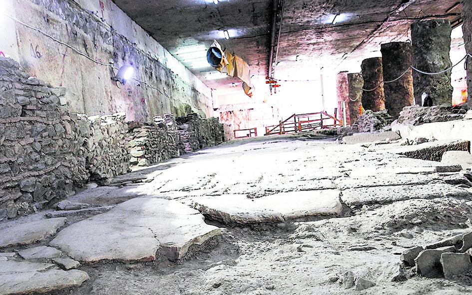 I ritrovamenti archeologici nel cantiere in costruzione
