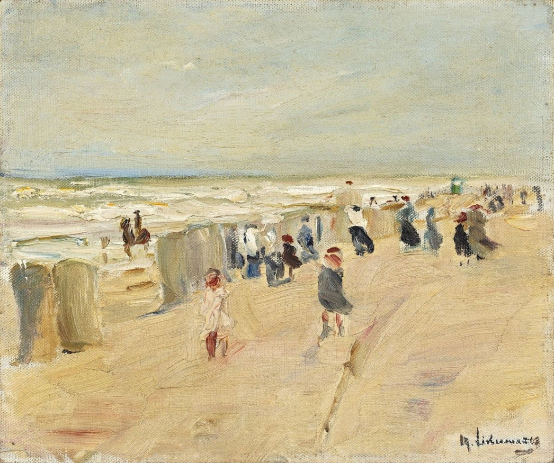 Max Liebermann,  Strand in Nordwijk  bei Sturm, 1908