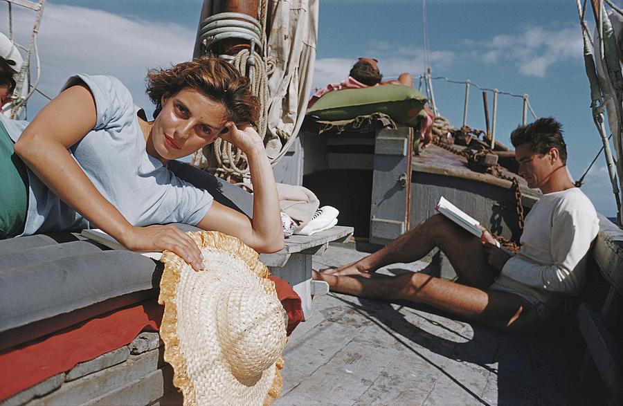 La principessa Domietta Del Drago, Capri 1958, fotografia di Slim Aarons