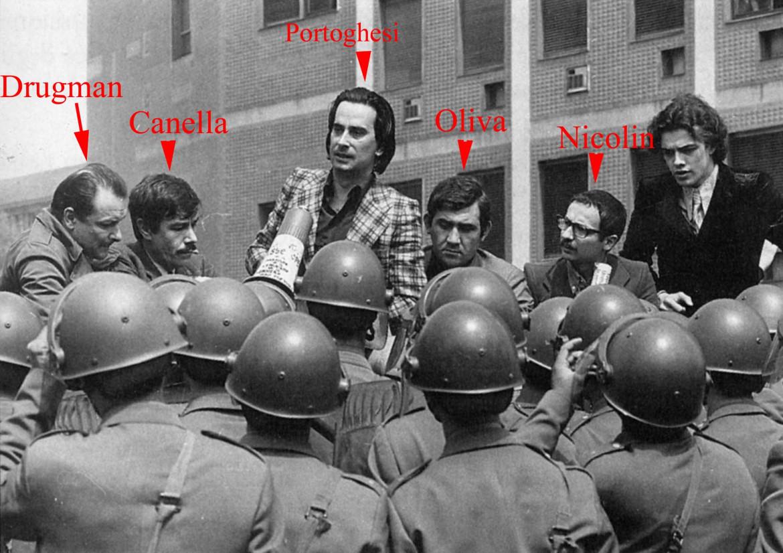 Milano, giugno 1971, un'istantanea delle contestazioni alla facoltà di Architettura del Politecnico
