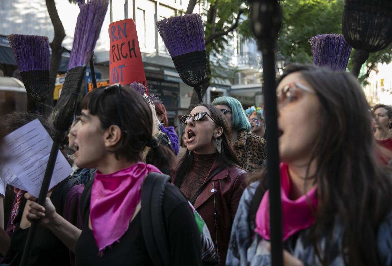 Manifestazione femminista in Grecia (foto d'archivio)