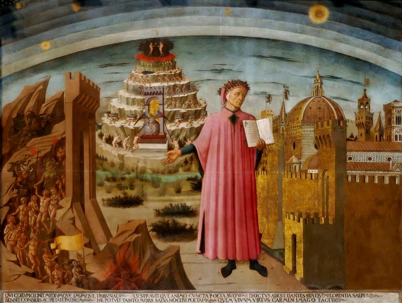 Domenico di Michelino, «Dante con la Divina Commedia», 1465. Santa Maria del Fiore, Firenze