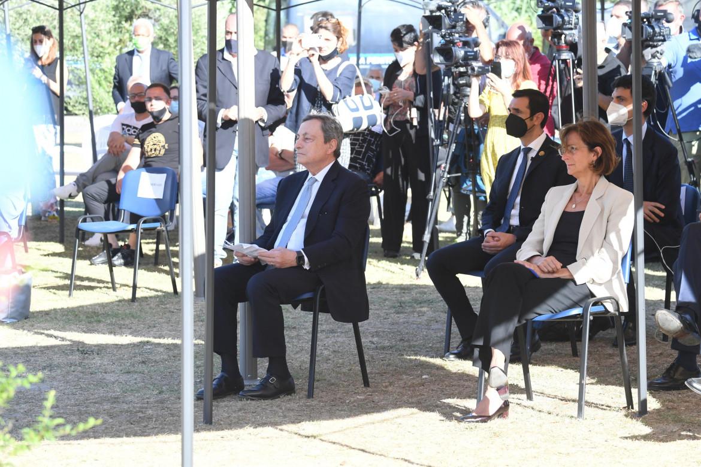 Mario Draghi e Marta Cartabia al carcere di Santa Maria Capua Vetere
